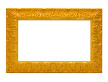 Yellow picture frame Royalty Free Stock Photos