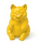 Yellow  piggy figure Stock Photos