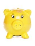 Yellow piggybank Royalty Free Stock Photos