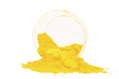 Yellow pigment Royalty Free Stock Photo