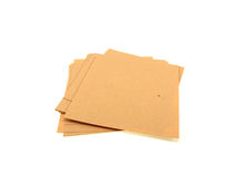 Yellow pile of office paper Stock Photo