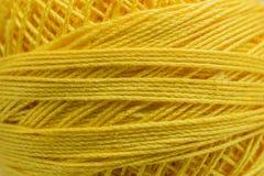 Yellow piles yarn Royalty Free Stock Photo