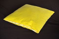 Yellow pillow Royalty Free Stock Images