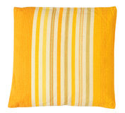 Yellow pillow. Isolated Royalty Free Stock Photography