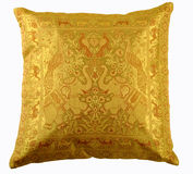 Yellow pillow  isolated on white backround. With clipping path Stock Photos