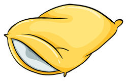 A yellow pillow Royalty Free Stock Photo
