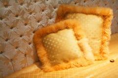 Yellow pillows Stock Image