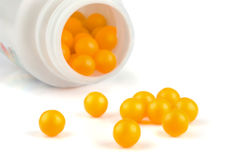 Yellow pills Royalty Free Stock Photo