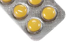 Yellow Pills Stock Images