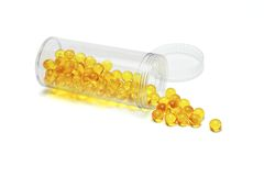 Yellow pills Royalty Free Stock Photography