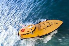 Yellow pilot boat Stock Photo
