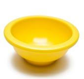 Yellow Pinch Bowl. Single yellow pinch bowl on white background Stock Photography