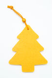 Yellow pine tree. On white background Stock Images