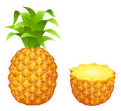 Yellow Pineapple Royalty Free Stock Photos