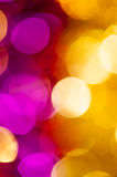 Yellow and pink bokeh background Stock Photos
