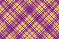 Yellow pink check madras seamless fabric texture Royalty Free Stock Photography