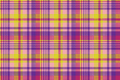 Yellow pink check madras seamless fabric texture Stock Images