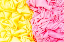 Yellow and pink fabric texture background Royalty Free Stock Image