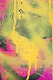 Yellow and pink graffiti Royalty Free Stock Photography