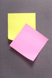 Yellow and pink note Royalty Free Stock Photo