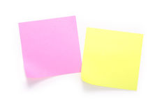 Yellow and pink note Stock Photo