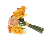 Yellow, Pink and Orange Rose Bouquet of Flowers royalty free stock photography