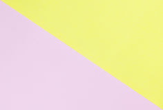 Yellow and pink paper pastel tone Stock Photography