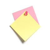 Yellow and Pink Sticky Note Royalty Free Stock Image