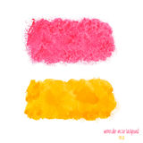 Yellow and pink watercolor banner Royalty Free Stock Images