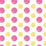Yellow and pink Watercolor circles. Watercolor abstract background. Yellow and pink Royalty Free Stock Image