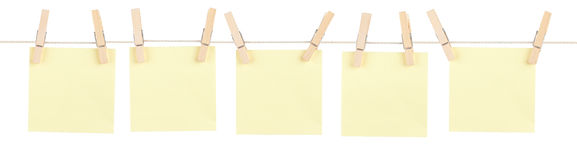 Yellow Pinned Notes Stock Photography