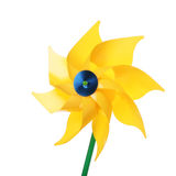 Yellow pinwheel toy Royalty Free Stock Image