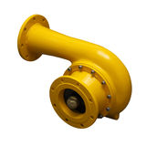 Yellow pipe-adapter Royalty Free Stock Photo
