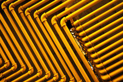 Yellow Pipes. An image of yellow pipes forming an interesting pattern Royalty Free Stock Photography