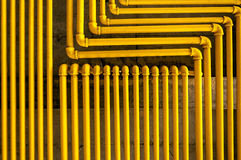 Yellow Pipes. An image of yellow pipes forming an interesting pattern Royalty Free Stock Photo