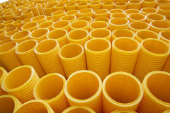 Yellow Pipes Royalty Free Stock Photography
