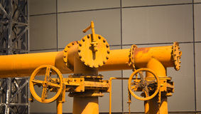 Yellow pipes Stock Image