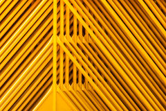 Yellow pipes Structure. Abstract and Pattern Royalty Free Stock Photos