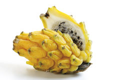 Yellow pitahaya, close-up stock images