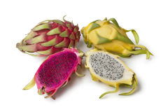 Yellow Pitaya and Costa Rica Pitaya Royalty Free Stock Photography