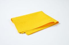 Yellow place mat Stock Photography