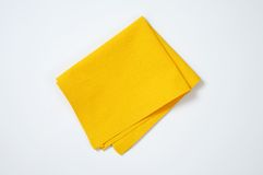 Yellow place mat Royalty Free Stock Images
