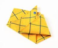 Yellow placemat Stock Photos
