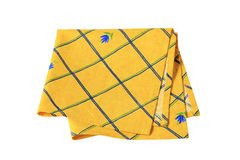 Yellow placemat. Small yellow place mat with flower pattern Stock Photo