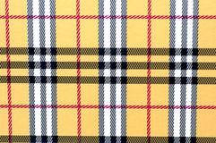 Yellow plaid. Closeup of plaid Royalty Free Stock Images