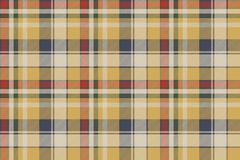 Yellow plaid check fabric texture seamless pattern. Vector illustration Stock Image