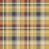 Yellow plaid check fabric texture seamless pattern. Vector illustration Stock Photos