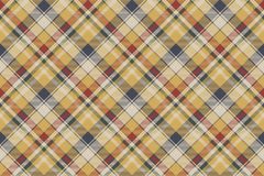 Yellow plaid check fabric texture seamless pattern. Vector illustration Stock Images