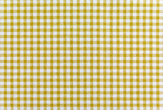 Yellow plaid fabric Royalty Free Stock Photography