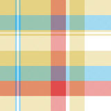 Yellow plaid tartan seamless pattern Stock Image